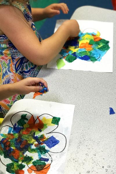 Bleeding Crepe Paper Art - MosaicFlower1