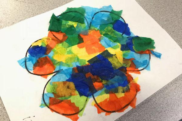 Bleeding Crepe Paper Art - MosaicFlowers3